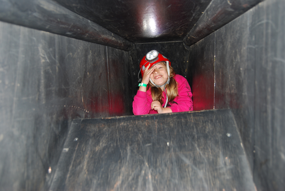 Caving front Girl